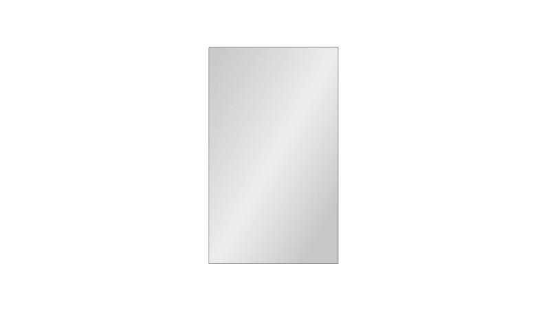 Vollflächig satiniertes Zaunelement aus Einscheibensicherheitsglas. Maß: 103 x 174 cm