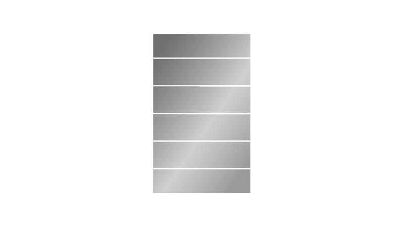 ESG-Zaunelement mit satiniertem Streifendekor, 8 mm. Gut kombinierbar mit unseren WPC-Zäunen