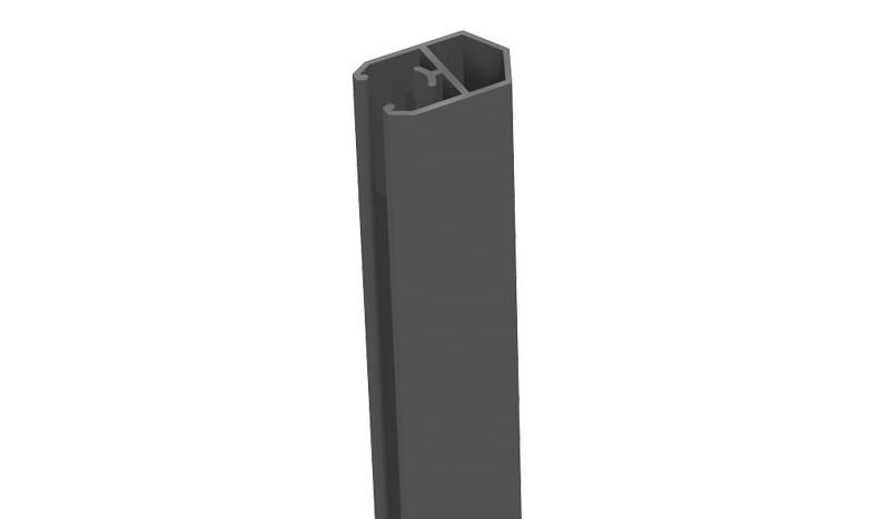 Unser Alu Abschlussprofil in Anthrazitgrau mit einer Länge von 180 cm - Pyramidenform - Aluminium