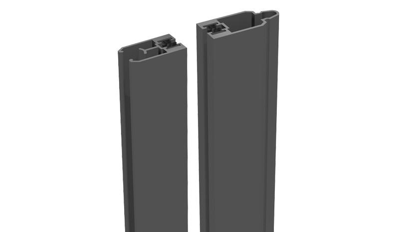 Unsere Alu Adapterleiste zur Montage von Glas -/ Lochblecheinsätzen - Anthrazitgrau - zweiteilg - 180 cm lang