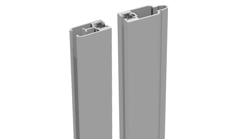 Die Alu Adapterleiste für die Montage von Designelementen - zweiteilig - Silbergrau - 180 cm lang