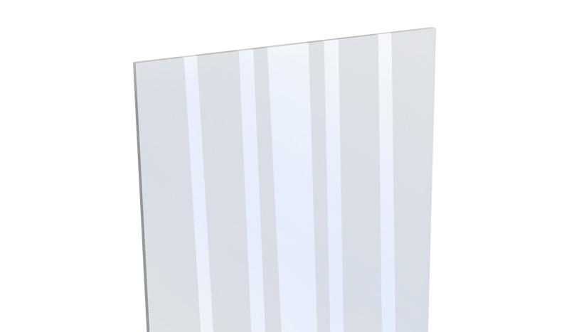 Unser Aluzaun Glaseinsatz als Designelement aus ESG Sicherheitsglas - 180 x 30 x 0,4 cm - satinierte Dekorstreifen