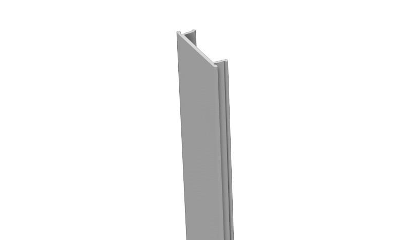 Die Alu Pfostenleiste aus Kunststoff in Silbergrau - zum Verdecken der Pfostennuten - 190 cm lang