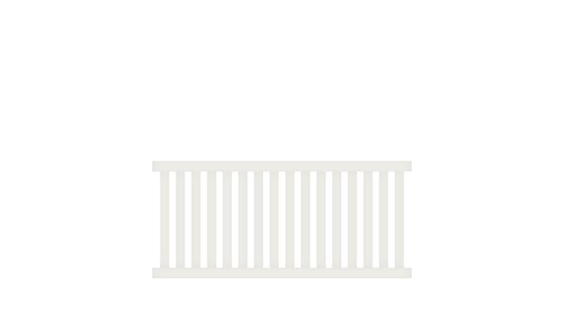 Wetterfester Aluminium Gartenzaun, 200 x 90 cm, weiß (RAL 9016) inkl. Montageset