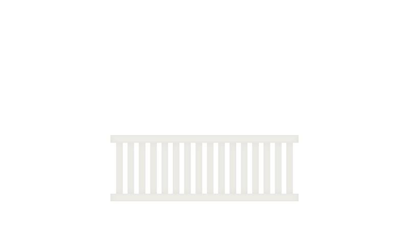 Pflegeleichter Aluminiumzaun, 200 x 70 cm, weiß (RAL 9016) inkl. Montageset