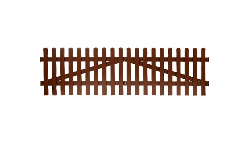 Aluminium Gartenzäune Aubing mit einem Maß von: 300 x 80 cm. Gerader Verlauf. Farbe: Braun.