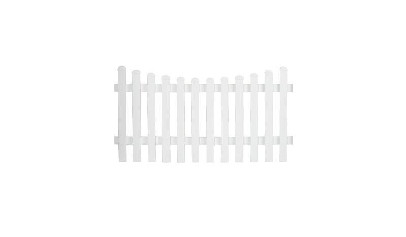 Aluminiumgartenzäune Neuhausen. Mit einem Maße von 185 x 100 auf 90 cm. Farbe: Weiß, mit einem Unterbogen.