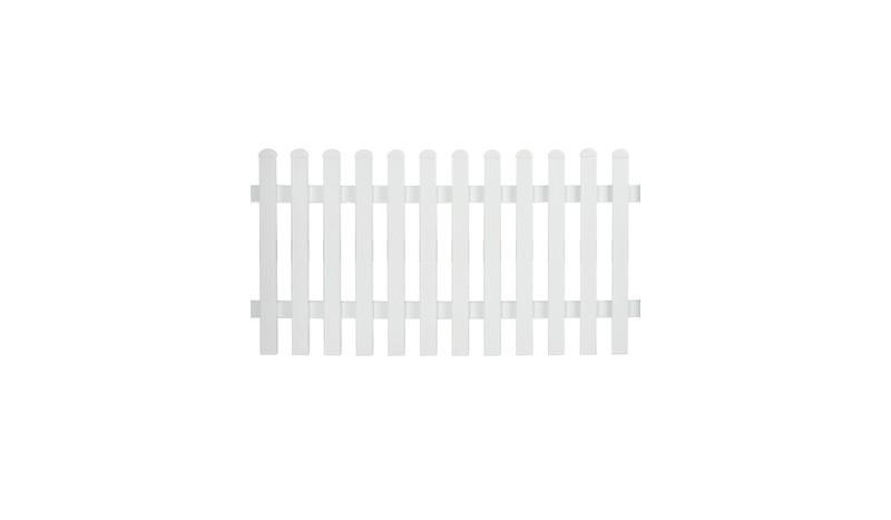 Aluminiumgartenzäune Neuhausen. Mit einem Maß von 185 x 100 cm. Farbe: Weiß, gerader Verlauf.