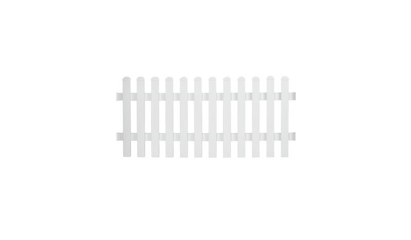 Aluminiumgartenzäune Neuhausen mit dem Maß: 185 x 80 cm. Gerader Verlauf. Farbe: Weiß.