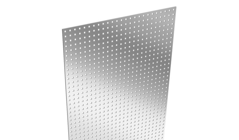 Unser Aluzaun Lochblecheinsatz mit dem Maß 180 x 30 x 0,1 cm ist aus gestanztem Aluminium gefertigt.