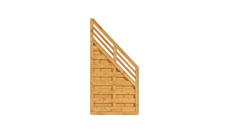 Das Abschlusselement hat einen starken und robusten Rahmen von ca. 40 x 65 mm.