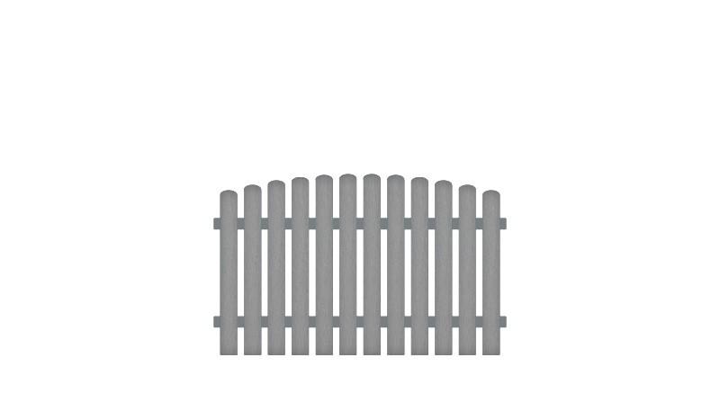 Wetterfester Gartenzaun aus Kunststoff mit Vollkunstofflatten und Aluminiumquerriegel, Edelstahl verschraubt, inkl. Montageset und Bohrer