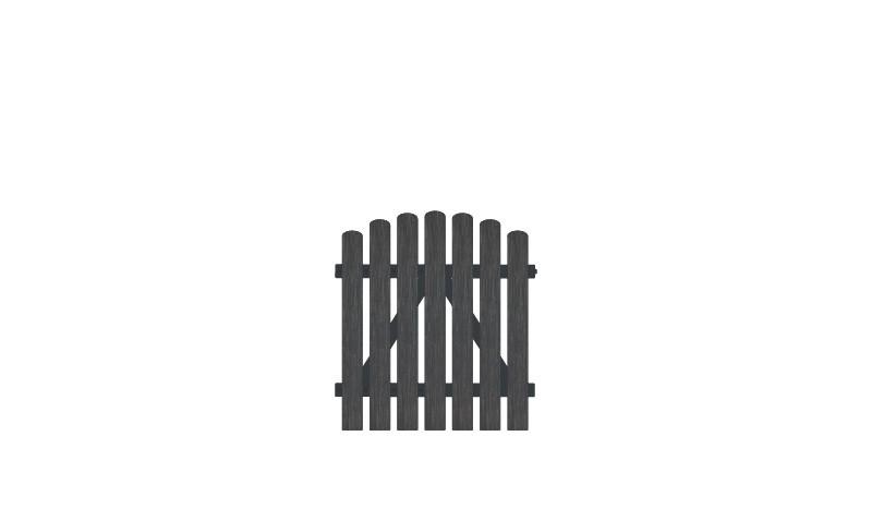 Vollkunstofflatten auf Aluminiumrahmen, 100 x 100 auf 110 cm, anthrazit (RAL 7016),  DIN-R, inkl. verstellbare Edelstahlbeschläge (6mm starke Ladenbänder vormontiert) und Überwurf