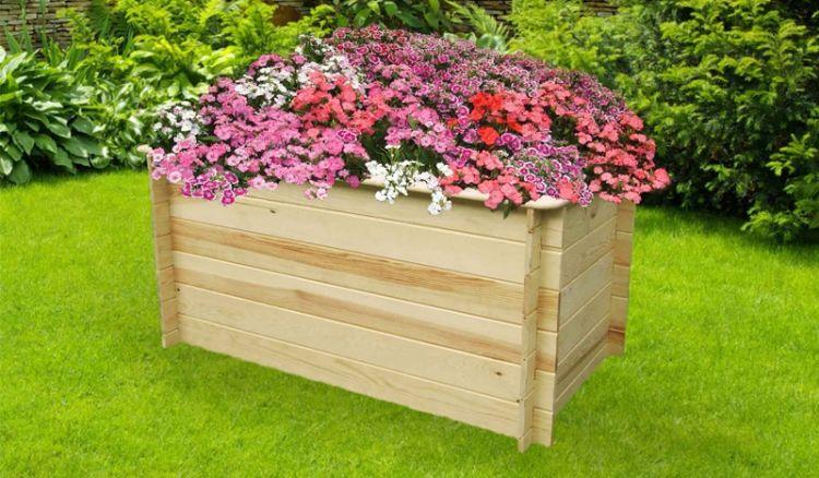 Das Holz Hochbeet lässt sich Dank einer angenehmen Arbeitshöhe von ca. 85cm rückenschonend bepflanzen und ist in 2 Breiten verfügbar - 160 cm oder 200 cm.