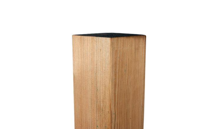 Holzpfosten 9x9 Kiefer in 100, 150, 180, 210 und 240 cm Länge, allseitig glatt gehobelt, gerundete Längskanten