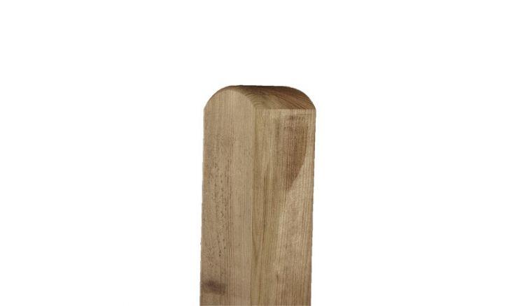 Zaunpfosten aus Kiefer mit Rundekopf in 7 x 7 cm Stärke und Längen von 90 und 190cm