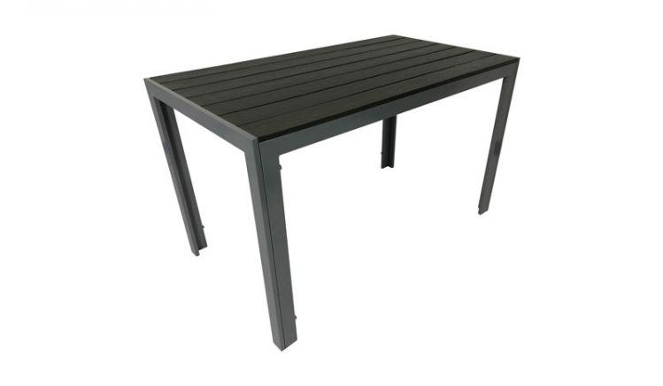 Der Gartentisch ist in 2 Größen erhältlich - die kleine Variante misst ca. 70 x 70 x 75,5 cm während die größere Ihnen ca. 70 x 125 x 75,5 cm Platz bietet.
