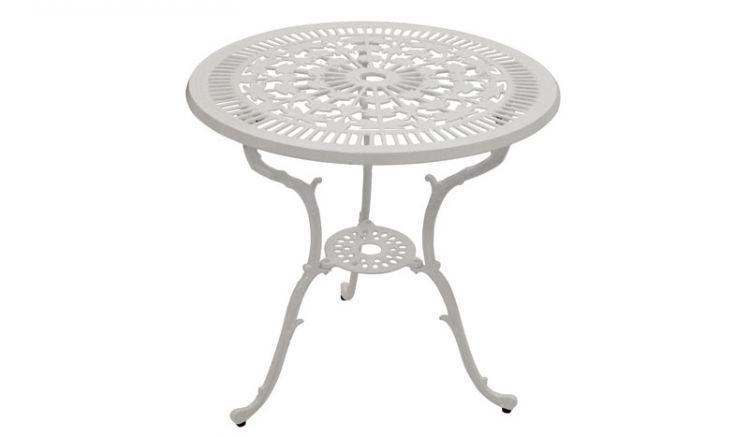 Mit einem Durchmesser von ca. 70 cm kann der Tisch als gartentisch oder Dekoelement genutzt werden.