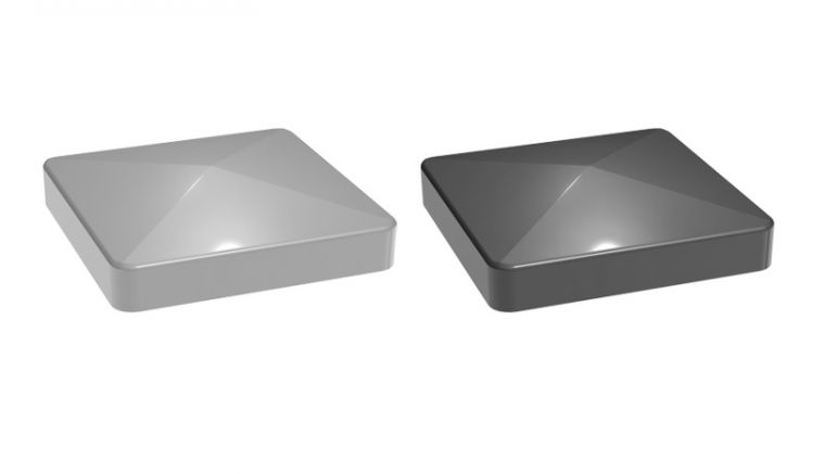 Unsere Alu Pfostenkappen in Pyramidenform sind aus Kunststoff gefertigt und in den Farben Silbergrau und Anthrazitgrau erhältlich.