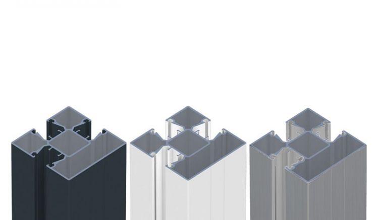 8,7 x 8,7 Pfosten aus massivem Aluminium - Wetterfest und Pflegeleicht.
