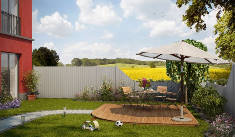 Die Serie Aluzäune Tilburg umfasst vier unterschiedliche Zaunelemente, die ein zeitloses Design bieten und nie gestrichen werden müssen.