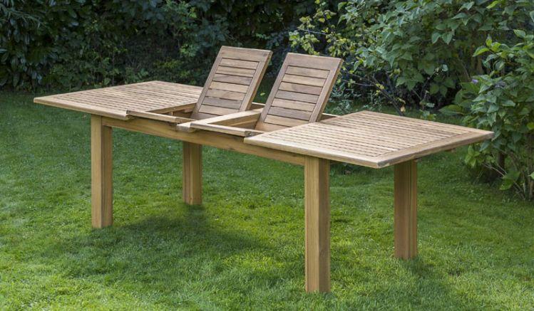 Durch zwei einsetzbare Elemente ist der Tisch flexibel an die von Ihnen benötigte Größe anpassbar.