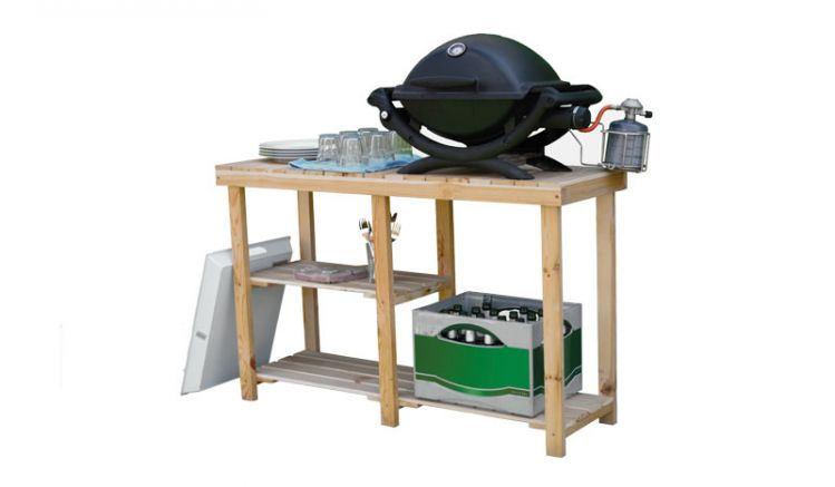 Der multifunktionale Tisch bietet viel Stauraum und besticht durch das zeitlose Design.