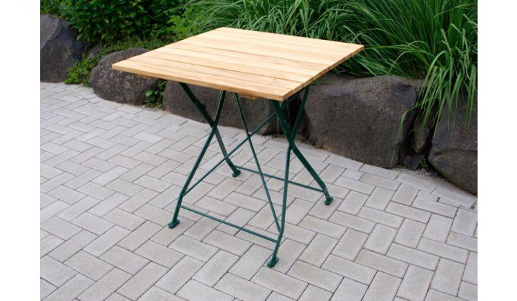 Der stabile Bierzelttisch Visby hat eine Tischplatte aus hochwertigem Robinienholz und ist in den Varianten moosgrün (RAL 6005)/natur und verzinkt/natur erhältlich.