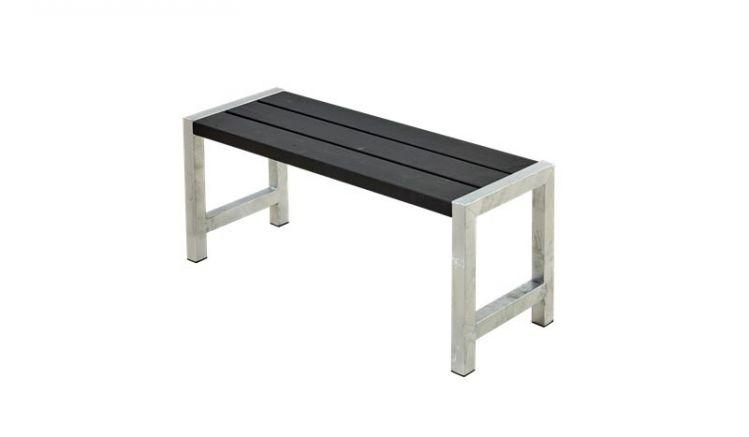 127 x 38 x 45 cm Outdoor Bistrobank aus druckimprägniertem Holz mit eleganter schwarzer Farbgrundierung