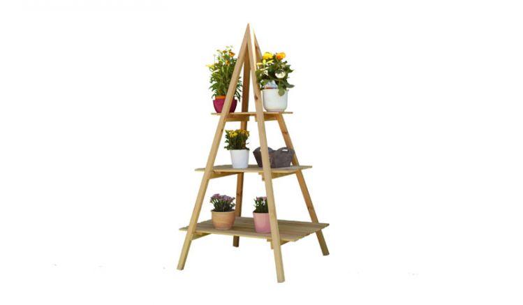 Unser Etagere bietet auf 3 Stufen viel Platz für Ihre Blumen und Pflanzen. Maße: ca. 80 x  80 x 160 cm (B x T x H)