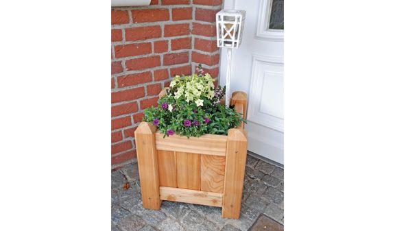 Blumentrog aus massiver Lärche im Maß 50 x 50 x 50 cm für Ihre Planzen und Blumen