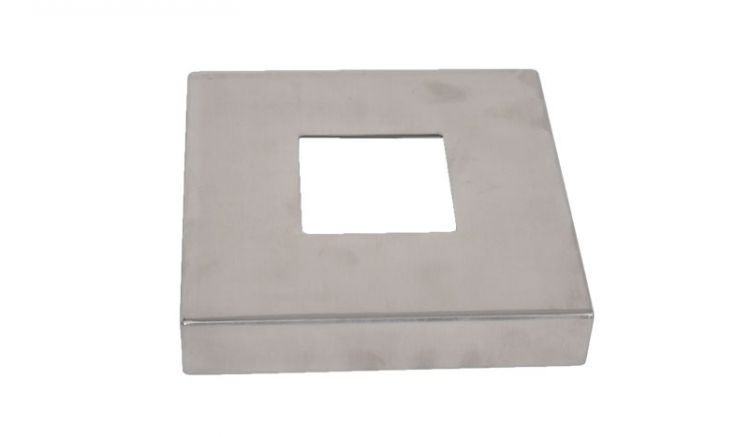Dei Abdeckkappe für unsere Edelstahlpfosten mit dem Maß von 15,5 x 15,5 cm