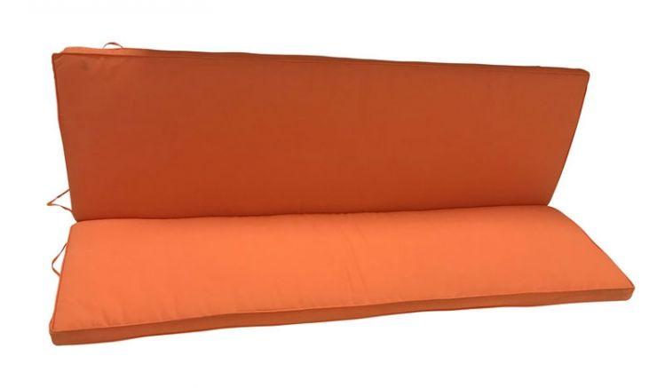 Modisches Sitzkissen für 3-Sitzer Gartenbänke im Maß 140 x 88 x 5 cm