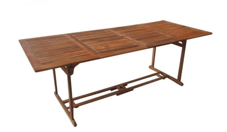 Der stabile Akazien Gartentisch Cancun ist ist einer Breite von 180 cm und in einer großen Variante mit 220 cm Breite erhältlich