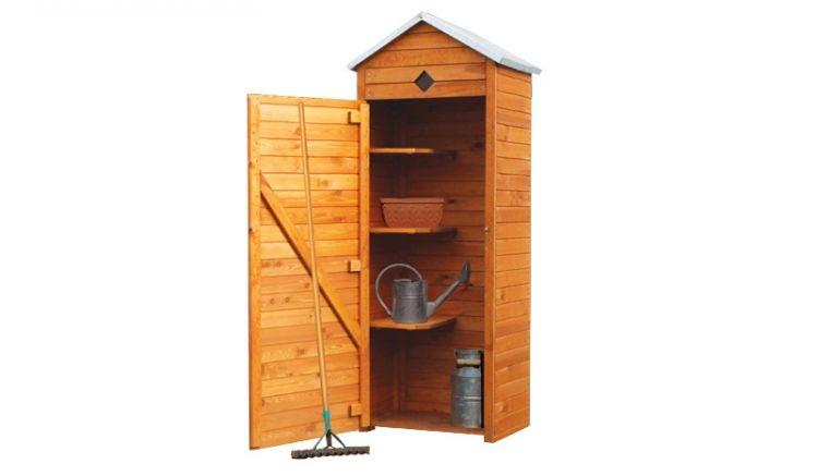 Mit den 3 integrierten Ablageflächen können im Geräteschrank eine Vielzahl Ihrer Gartengeräten aufbewahrt werden.