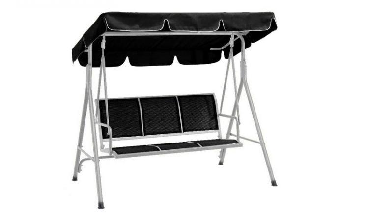 Die stabile Hollywoodschaukel mit Dach Brighton bietet dank 6 cm dicker Auflagen bis zu 3 Personen einen gemütlichen Platz zum relaxen.