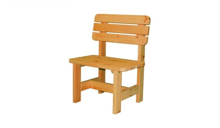 Dank farbiger Tauchimprägnierung ist der Stuhl schon mit einem ersten Holzschutz ausgestattet, so dass Sie möglichst lange Freude an diesem haben können.