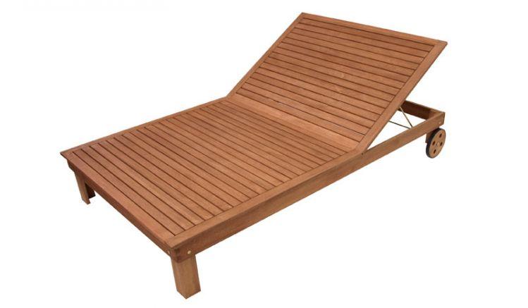 XXL Holzliege im Maß 200 x 120 x 33cm für Garten oder Terrasse.