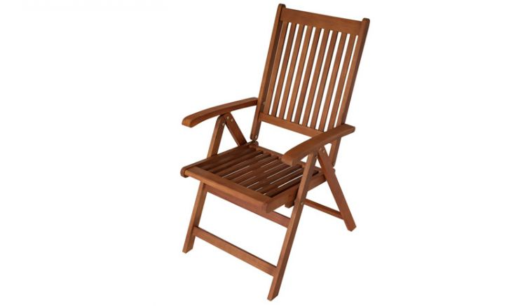 Der witterungsbeständige Klappstuhl Holz Cadiz ist aus FSC zertifiziertem, geöltem Eukalyptushartholz gefertigt. Er ist ein langlebiger Begleiter für Ihren Outdoorbereich.
