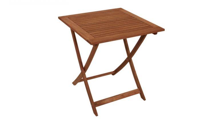 Kliener Holztisch mit einem Maß von 70 x 70 x 72cm.