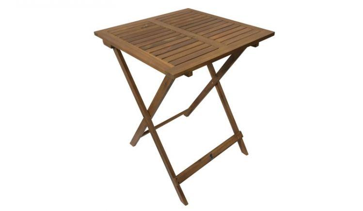 Mit einem Maß von ca. 60 x 60 x 74 cm ist der Klapptisch Natal II ideal für den Balkon oder die Terrasse geeignet. Er kann auch als Beistelltisch für den Grillabend verwendet werden.