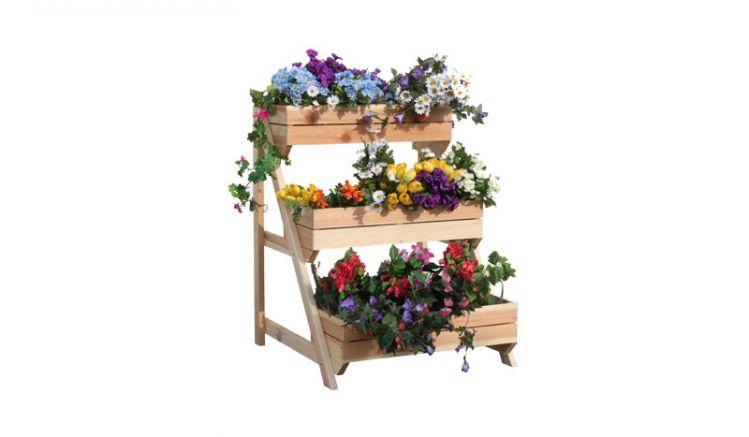 Die Blumenkübel der Pflanzleiter werden inkl. Pflanzfolie geliefert. Sie können diese also direkt bepflanzen.