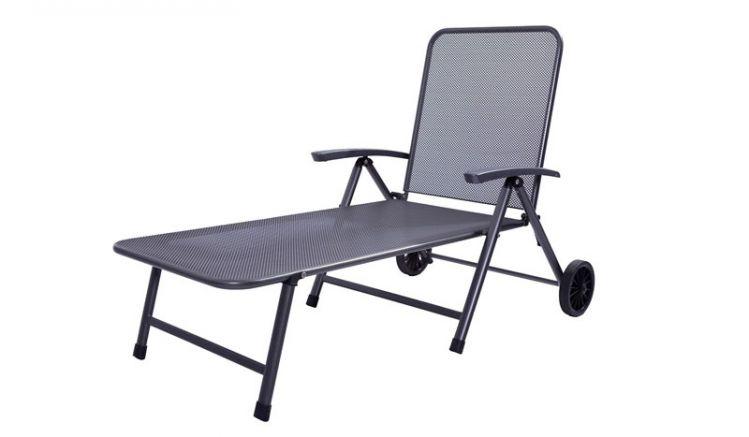 Rollliege aus robusten Streckmetall und verstellbarer Rückenlehne!