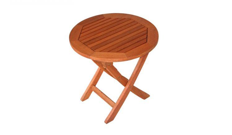 Rundtisch aus Holz mit einem Durchmesser von 48 cm -klappbar-
