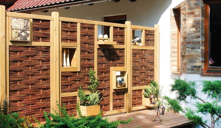 """Weidensichtschutz """"Warschau"""" - ein Zaunsystem aus natürlichen Materialien, mit dem Sie Ihren Sichtschutzzaun nach Ihren Bedürfnissen gestalten können. Ein echtes Highlight für Ihren Outdoorbereich!"""