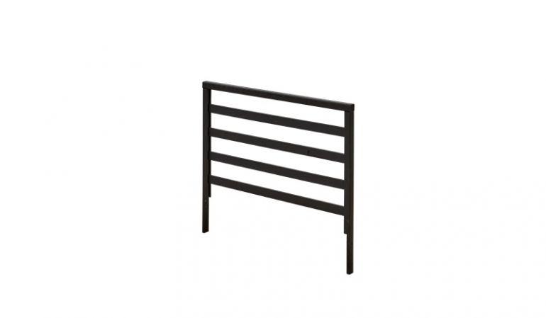 Modernes 90 x 58 cm Spalier Groß aus fungizid vorbehandelter und schwarz farbgrundierter Fichte/Kiefer