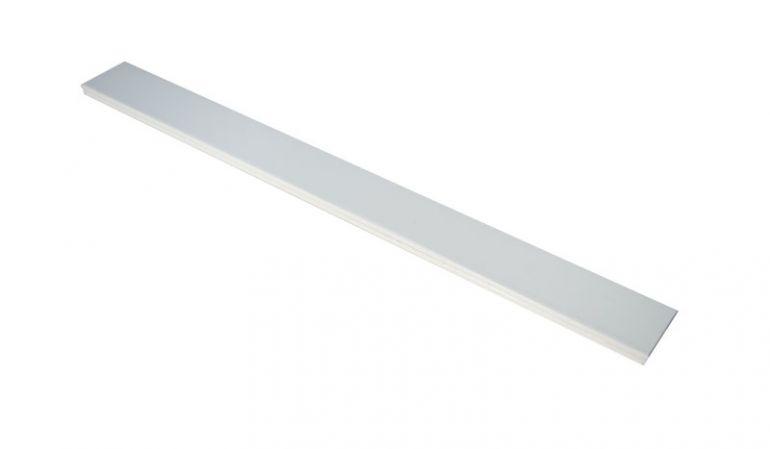 Aluminium Querriegel mit massiven Kunststoffkern, als ideales Schraubfutter zu leichten Zaunlatten-Montage, und hochwertiger Pulverbeschichtung.
