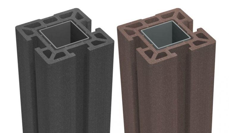 Der BPC Pfosten aus Bambus-Polymer-Composite, stahlverstärkt. In verschiedenen Farben und Größen erhältlich.