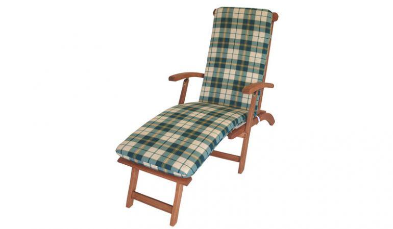 Gartenmöbel-Auflage für einen Deckchair oder Liegestuhl.