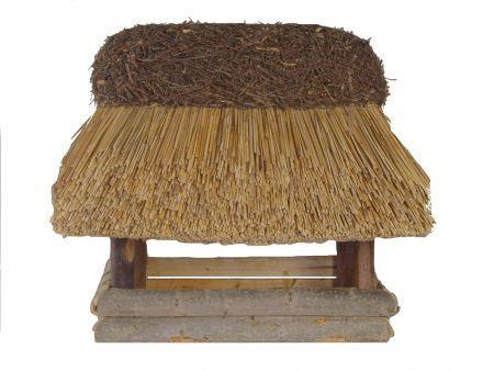 Futterhaus mit Reetdach -handwerkliches Einzelstück-